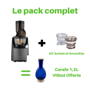 pack-complet-kuvings-kit-sorbet-smoothie-carafe-vitbot-fruit-of-life